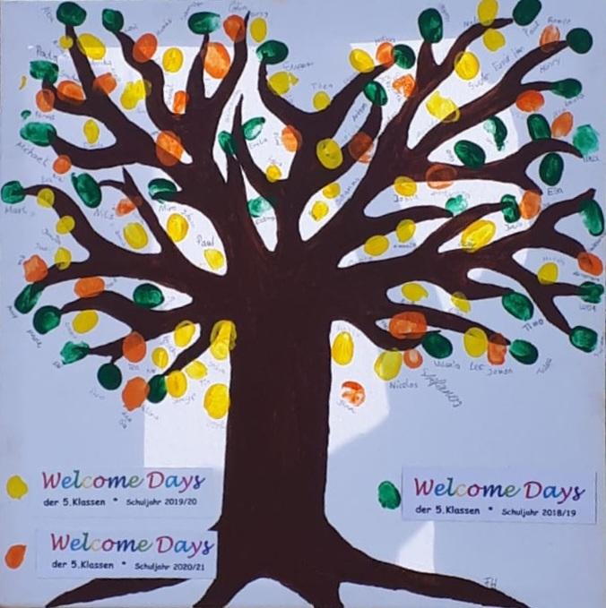 Unser OGS-Baum - kreatives Gemeinschaftswerk der 5. Klässler für jedes neue Schuljahr