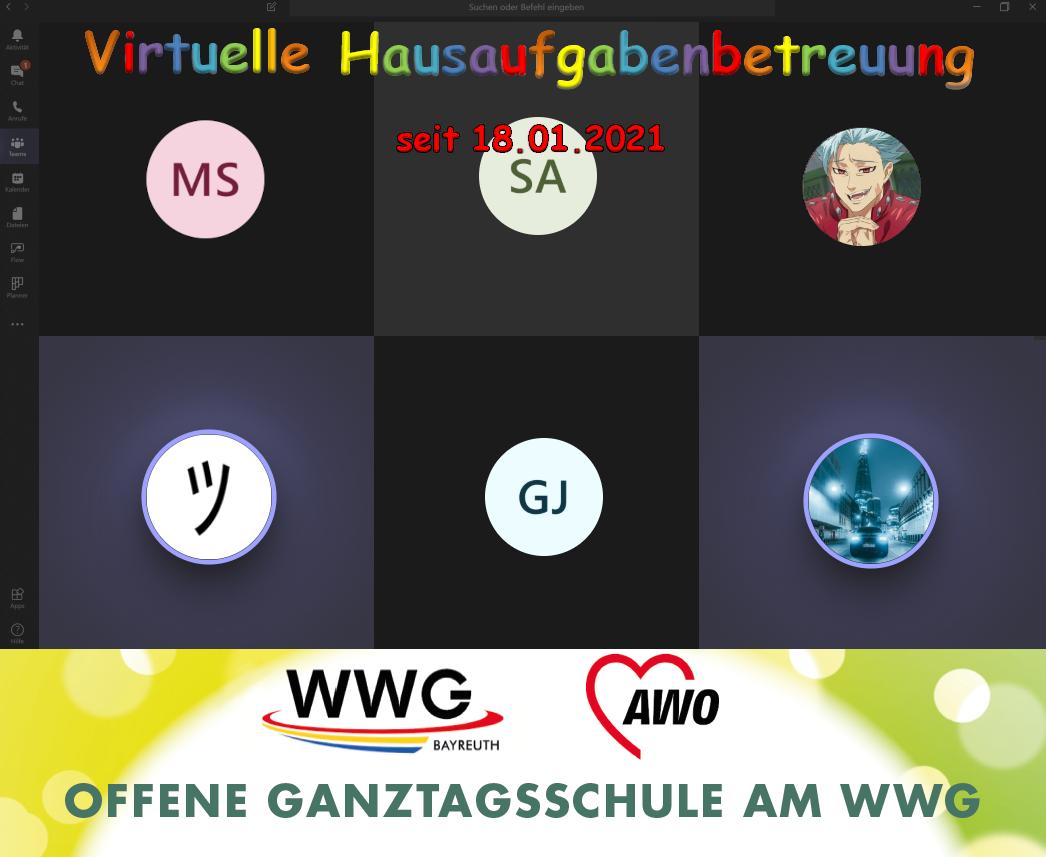 Unsere virtuelle Hausaufgabenbetreuung